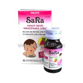 Antipyretic syrup from the birth of SaRa Infant Drops Paracetamol