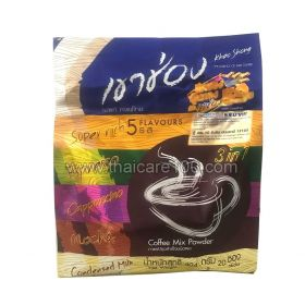 Assorted instant coffee 3 in 1 Khao Shong 5 Flavours 20 pieces