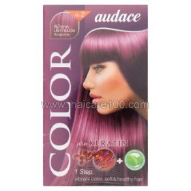 Persistent cream hair dye with keratin Audace Color Plus Keratin No2 color Burgundy