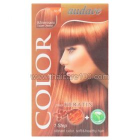 Persistent cream hair dye with keratin Audace Color Plus Keratin No.4 Copper color Chestnut