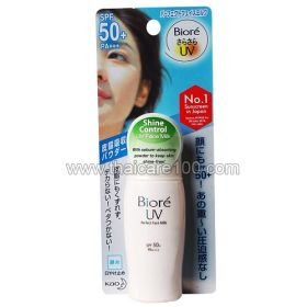 Matting lotion for oily skin with UV protection Biore UV Perfect Face Milk SPF50 +