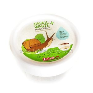 Улиточная маска для лица Snail White+ Mask Pack Daiso с коллагеном