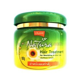 Mask for dry and colored hair Lolane Natura Hair Treatment Sunflower Oil with Sunflower